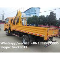 Quality China best price T-KING 4*2 2.5Tons cargo truck with crane for sale, factory for sale