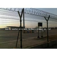 Safety Strong Welded Wire Fence Panels Square Hole Shape Nice Appearance / Airport Security Fencing Manufactures