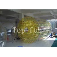 Crazy fun double layered Inflatable Water Roller , Interesting inflatable rollers Manufactures