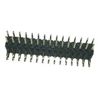 Right  Angle 	Pin Header  2mm Pitch Connector , PA9T Black Double Row Header Connector Manufactures