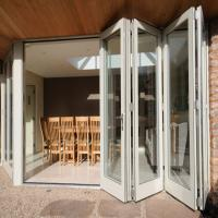 Exterior Frameless Bifold Commercial Aluminum Glass Doors Folding Type With Hardware Manufactures
