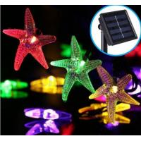 Starfish Solar Powered String Fairy Lights , 6M 30 LED Outdoor Patio String Lights Manufactures