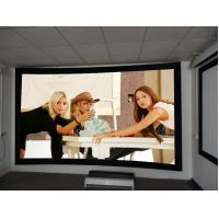 8cm Frame Curved Projection Screens With Black Velvet / 3D Screen Projector Manufactures
