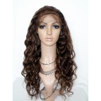 Top Quality 100% Human Hair Brown Body Wave Full Lace Wig Manufactures