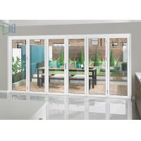 Heavy Duty Aluminium Folding Doors with Single / Double Tempered Glazing Manufactures