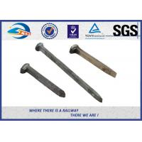 Q235 / 35# Threaded Railroad Track Spikes 3/4''X'6'' ISO9001 / SGS Manufactures