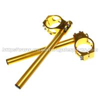 Quality 55mm CNC Adjustable Clip Ons Motorcycle With Usual / Split Type for sale
