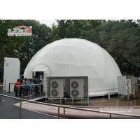 China 14m diameter Garden Steel Geodesic Dome Tents / Metal Geodesic Dome Greenhouse on sale