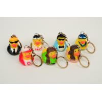Promotion Mini Keychain duck with style of singer ducks and stars ducks Manufactures