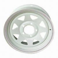 Steel Trailer Wheel Rims, White (Powder Paint), Silver (Galvanized), Made in China Manufactures
