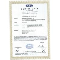 Hami Opto Technology Co., Limited Certifications