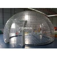 Clear PVC Double Layers Inflatable Bubble Tent 8m Diameter Exhibition Manufactures