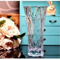 Clear Castle Decorative Glass Vases Stock Handwash Classical Type For Flower Manufactures