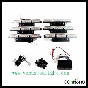 6 PCS 9 LED FLASHING EMERGENCY WARNING STROBE WHITE LIGHT BUMPER GRILLE DECK HOT Manufactures