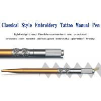 Engraved Embroidery Permanent Eyebrow Pen Gold Makeup Microblading Tools Holder Manufactures