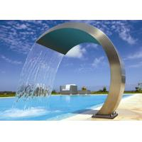 Simple Style Stainless Steel Water Fountain , Stainless Steel Pool Water Features Manufactures