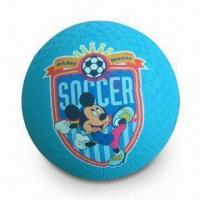 Rubber Playground Ball, Cartoon Printing, CE Certificate and OEM Orders Welcomed Manufactures