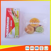 Airtight Plastic Zipper Sandwich Bags , Zip Lock Reusable Food Storage Bags Manufactures