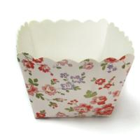 Square Cake Cup Garden Flower Decorative Cupcake Wrappers of party cups personalized Manufactures