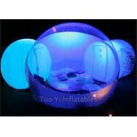 Clear Outdoor Inflatable Dome Tent / Camping Tent With One Room One Tunnel Manufactures