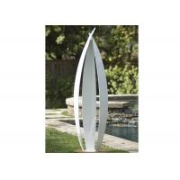 Garden Art Decoration Modern Stainless Steel Sculpture White Painted Finish Manufactures