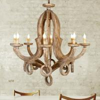 Buy cheap Distressed white wood orb chandelier for Home lighting (WH-CI-54) from wholesalers