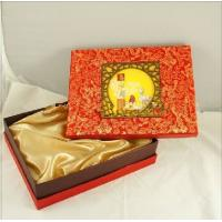 Customized Chinese Moon Cake Boxes With Damask Printing 13 * 10 * 3 inch Manufactures
