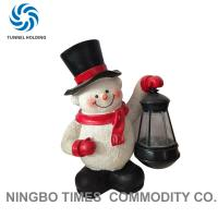 Holiday Resin Snowman Solar Lights , Solar Powered Garden Gnome Lights Manufactures