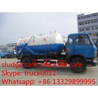 2017s best seller dongfeng 153 8cbm sewage sucking vehicle for sale, factory sale best price dongfengLHD vacuum truck Manufactures
