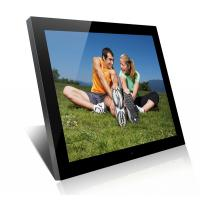 Acrylic 19 Inch High Resolution Digital Picture Frame With Clock And Calendar Manufactures