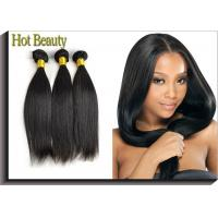 Natural Black Remy Virgin Human Hair Extensions Straight Type Manufactures