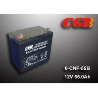 55AH 12v Sealed Lead Acid Batteries , Long Life Solar Wind Energy Storage Battery Manufactures