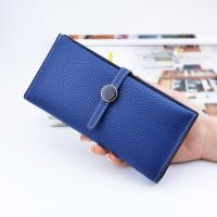 Quality Women PU Leather Money Clip Wallet Durable Hardware Buckle With Polyester Lining for sale