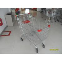 Zinc Plated Low Carbon Steel Supermarket Shopping Carts 240L 1100x590x1076mm Manufactures