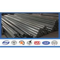 40 FT Octagonal Hot Dip Galvanized Tubular Steel Poles For Transimission Power Line Manufactures