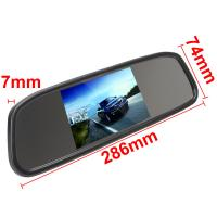 Rear View Mirror Car Monitor 4.3 Inch Monitor LCD Color Screen 4.3 Inch Manufactures