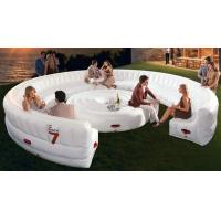 Quality White large Circular PVC Modern Inflatable Furniture , Inflatable Sofa Bed for sale
