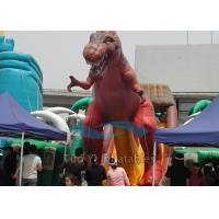 China Giant Dinosaur Inflated Cartoon Characters , Outdoor Inflatable Character Balloons on sale