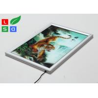 Super Thin LED Light Box Frame , 20mm Width Customisable Light Box For Wall Poster Display Manufactures