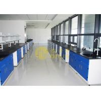 Epoxy Resin Laboratory Worktops Glare / Matte Finish With Reagent Shelf Manufactures