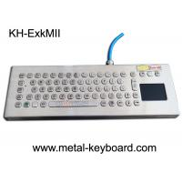 China Explosion Proof Stainless Steel Keypad , Industrial Pc Keyboard With Touchpad on sale