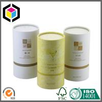 Buy cheap Gold Logo Print Cardboard Cosmetic Tubes; Custom Color Print Tea Paper Tubes from wholesalers