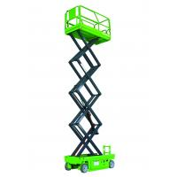Quality Lifting capacity 230kg Steel Self Propelled Scissor Lift Platform 10mPlatfom Height with Extention Platform for sale