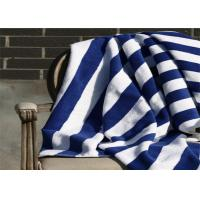 100% Cotton Blue & White Color Hotel Stripe Beach Towel With 80*160CM Manufactures