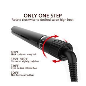 Hair Straightener Curling Iron Hair Curler Flat Iron 2 in 1 Tourmaline Ceramic Salon Hair Straightener for All Hair Type Manufactures