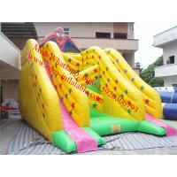 inflatable bouncy castle with water spiderman slide inflatable double lane slip slide Manufactures
