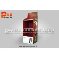 Hair Styling Tools Floor Corrugated Pop Display With 4C Printing For Exhibition Manufactures