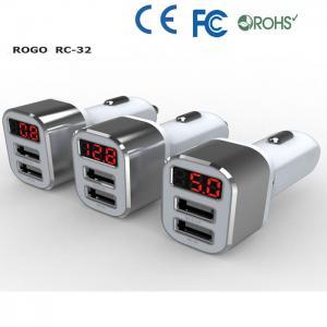 promotional 3 port usb car charger supplier Manufactures