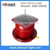 Quality 15LED Red Flash Solar Marine Beacon Offshore Lights With Spike Drive Bird Needle for sale
