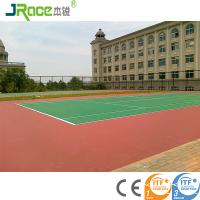 Customized Blue Surface Outdoor Sport Court Flooring For Tennis Game Manufactures